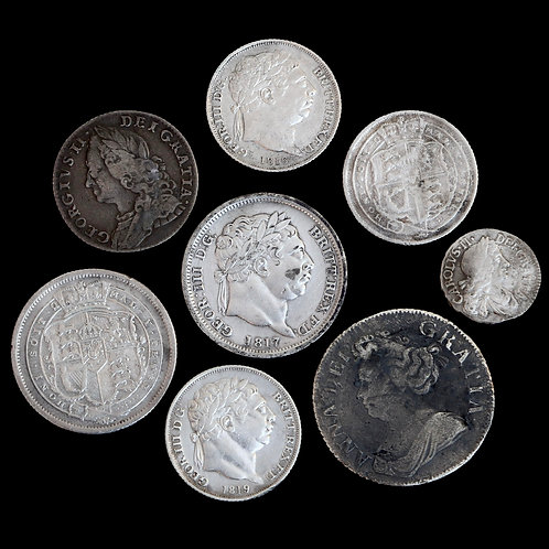 Charles II And Later Silver Coins. (8 Coins)