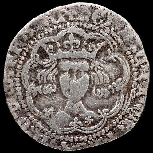 Henry V, 1413-22. Groat, mm. Pierced Cross. Mullet On Right Shoulder.
