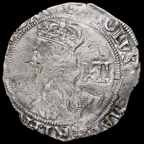 Charles I, 1625-49. Shilling. Tower Mint Under Parliament, 1642-9. mm, (P).