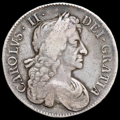 Charles II, 1665-85. Crown, 1679. TRICECIMO PRIMO Edge.