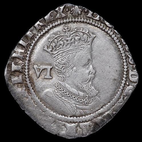 James I, 1603-25. Sixpence, 1606. 2nd Coinage, mm. Escallop.
