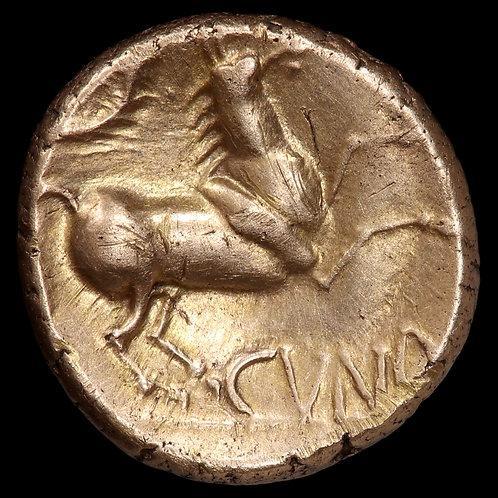 Celtic Britain. Catuvellauni, Cunobelin. Gold Stater, c.10-20 AD. Wild Type.