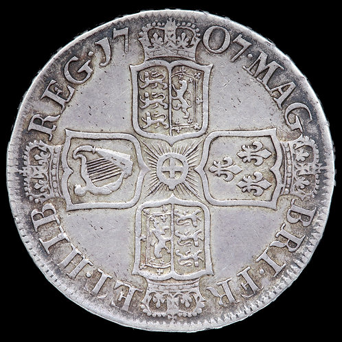 Anne, 1702-14. Halfcrown, 1707. SEPTIMO Edge.