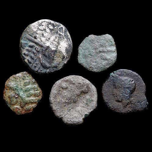 Celtic Britain. Potin, Thurrock Type, c. 1st Century BC. (5 Coins)