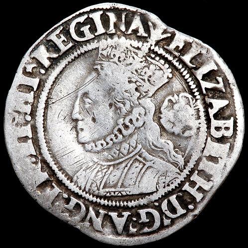 Elizabeth I, 1558-1603. Sixpence, 1564, mm. Pheon. Large Bust 3E. Scarce.