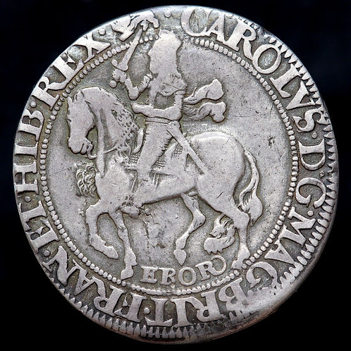 Charles I, 1625-49. Halfcrown, York Mint. Mint Mark Lion, 1643-44.