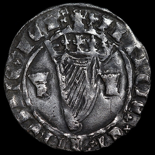 Ireland. Henry VIII, 1509-47. Hammered Groat, 1540-2. Second Harp Issue, mm. Lis
