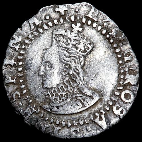 Elizabeth I, 1558-1603. Penny, mm. Greek Cross, 1578-79. Fifth Issue.
