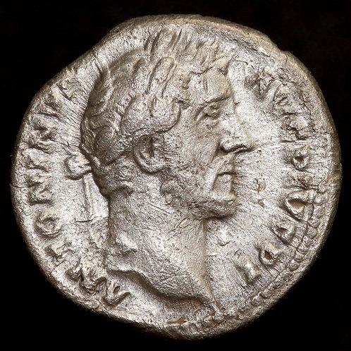 Roman Empire. Antoninus Pius, 145-161 AD. AR Denarius. Rome Mint.