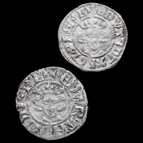 Edward I, 1272-1307. Pennies, Long Cross. London Mint. Class 4d, 10ab. (2 Coins)