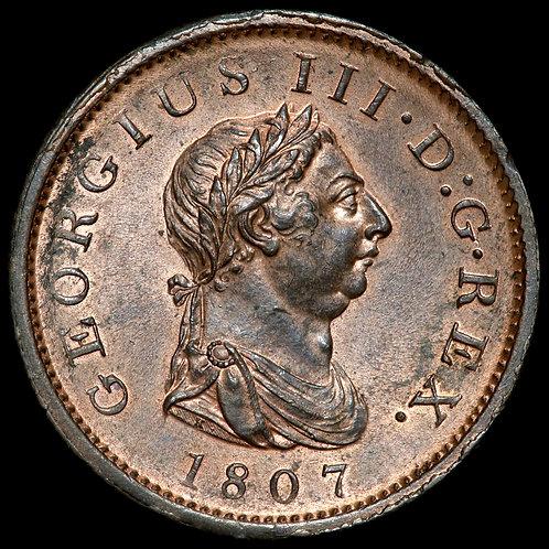 George III, 1760-1820. Penny, 1807. Soho Mint.