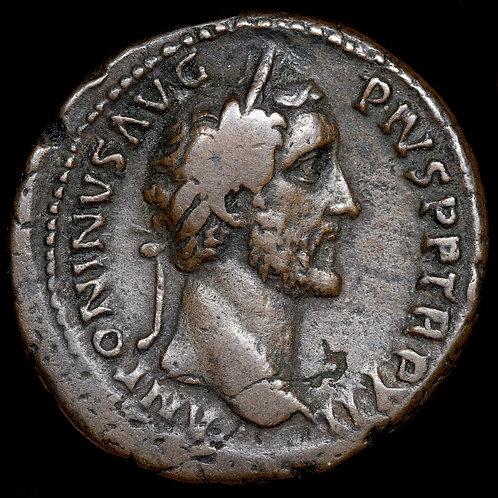 Antoninus Pius, 138-161 A.D. Dupondius. Felicitas Reverse.