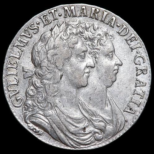 William And Mary, 1689-94. Halfcrown, 1689. PRIMO Edge.