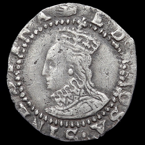 Elizabeth I, 1558-1603. Penny, mm. Hand, 1590-92.