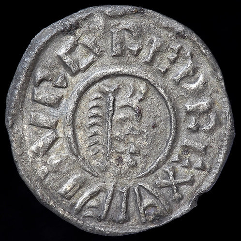 Burgred Of Mercia, 852-74. Penny. Lunette Type A. Moneyer Beagstan.
