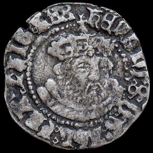 Henry VIII, 1509-47. Halfgroat, Canterbury Mint. Third Coinage.