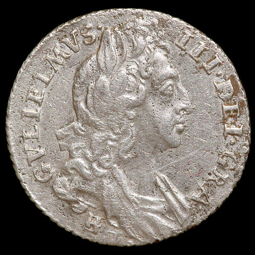 William III, 1694-1701. Sixpence, 1697. Bristol Mint.