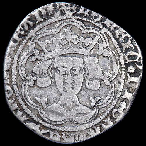 Henry VI, 1422-61. Groat, Rosette-Mascle Issue, 1422-30. Calais Mint.