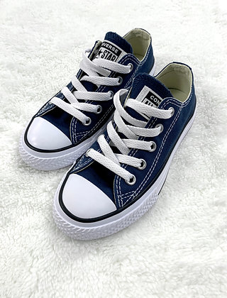 Navy White Converse All-Star Sneakers