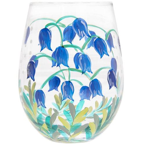 Bluebells Stemless Glass