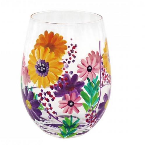 Sunflowers Stemless Glass