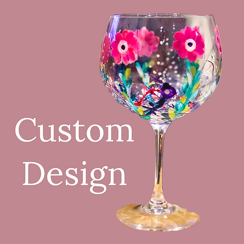 Custom Design Gin Glass