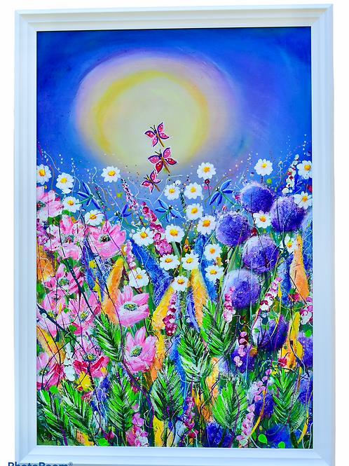 Butterfly Garden Original Painting