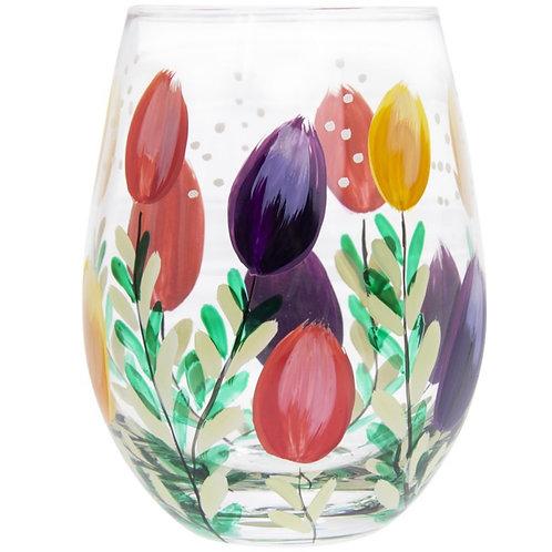 Tulips Stemless Glass