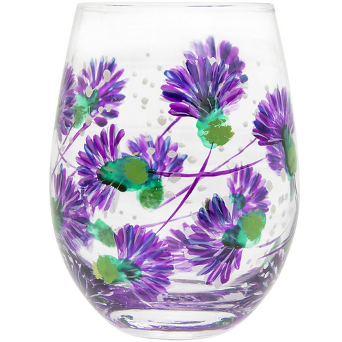 Thistles Stemless Glass