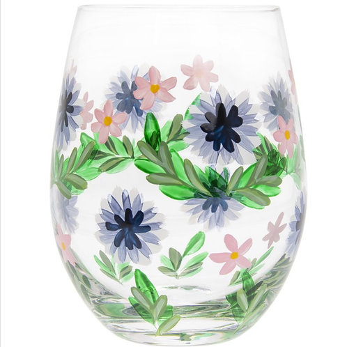 Cornflowers Stemless Glass