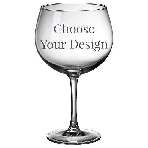 Custom Design Gin Glass