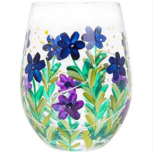 Blue Wild meadow Stemless Glass