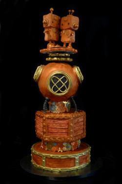 Steampunk inspired wedding cake
