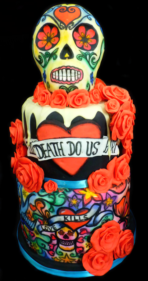 Till Death Do Us Part Wedding Cake