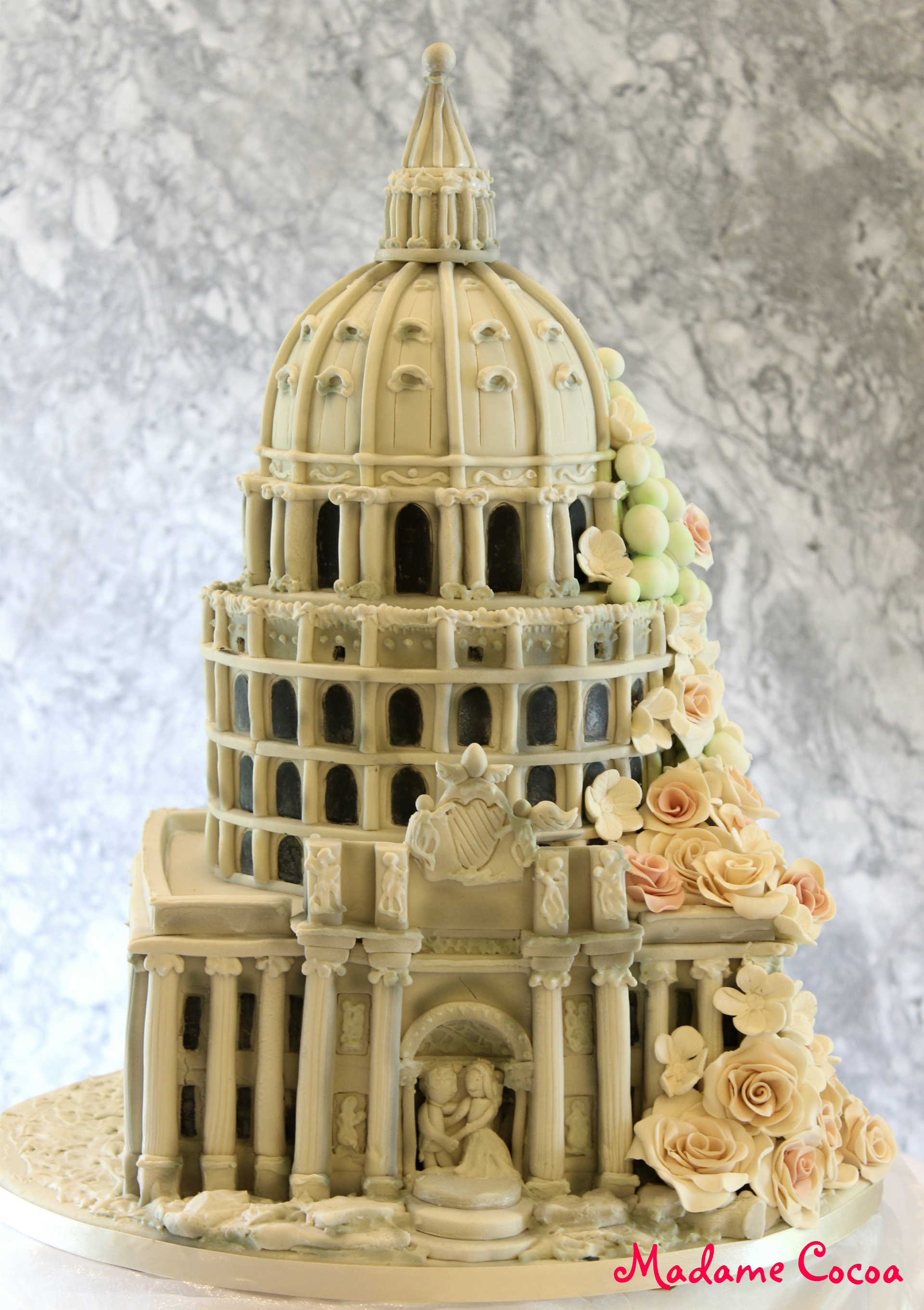 Italian Architecture wedding cake