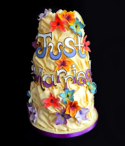 'Just Married' Wedding Cake