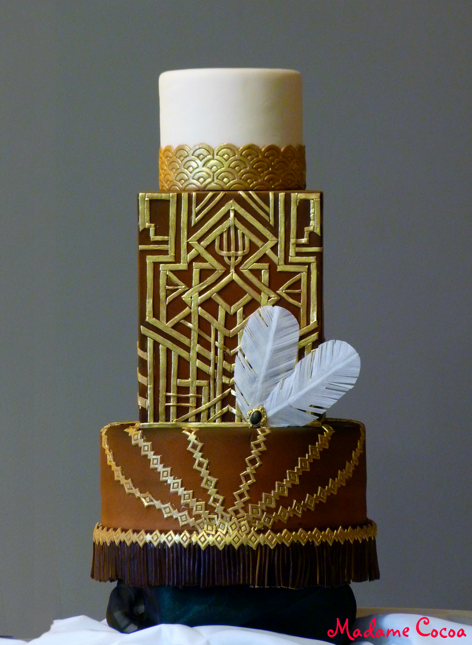 Great Gatzby inspired wedding cake