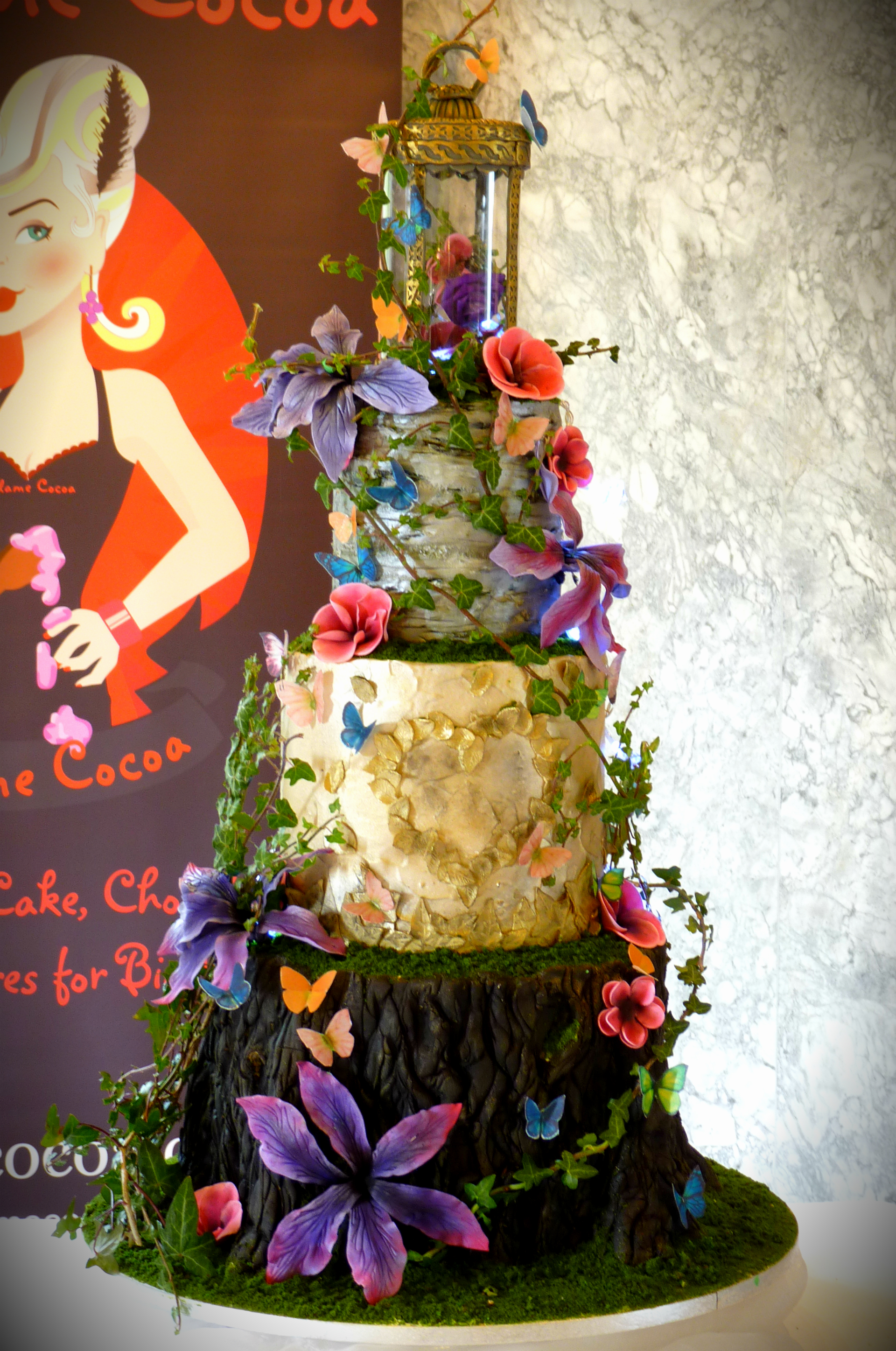 Enchanted forest wedding cake