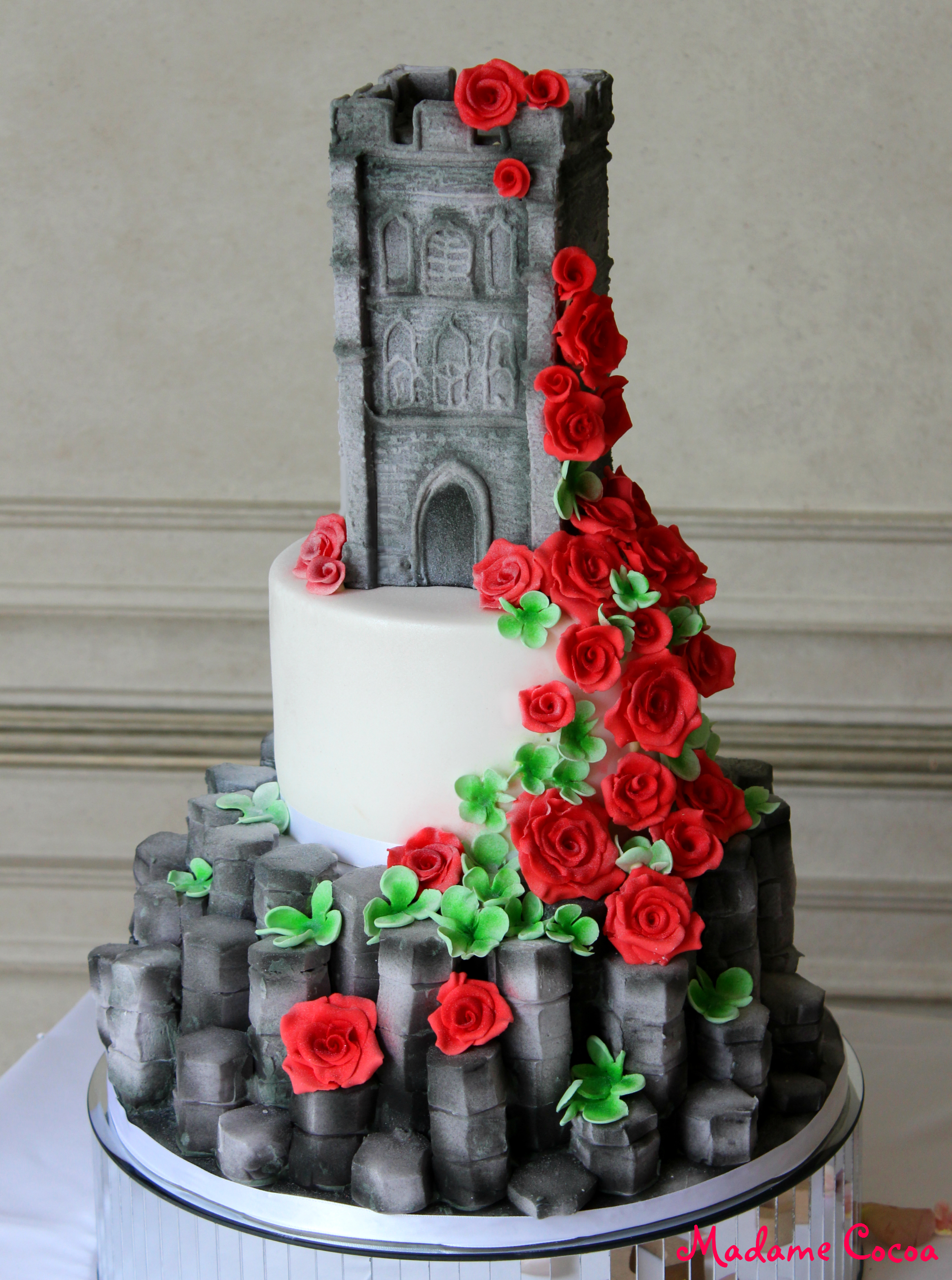 Belfast/Glastonbury wedding cake