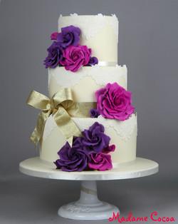 Lacey wedding cake