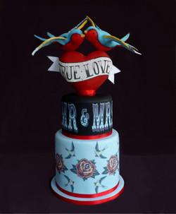 'True Love' Wedding Cake