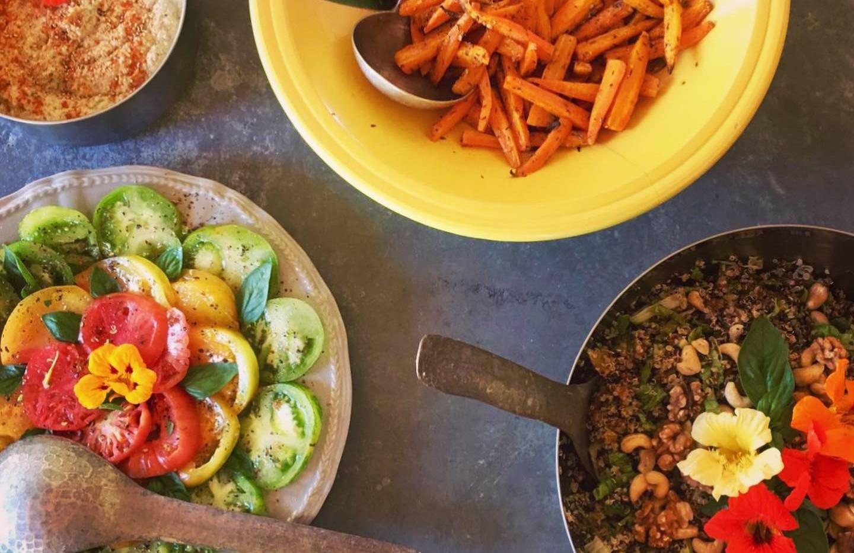 Repas veggie & colorée