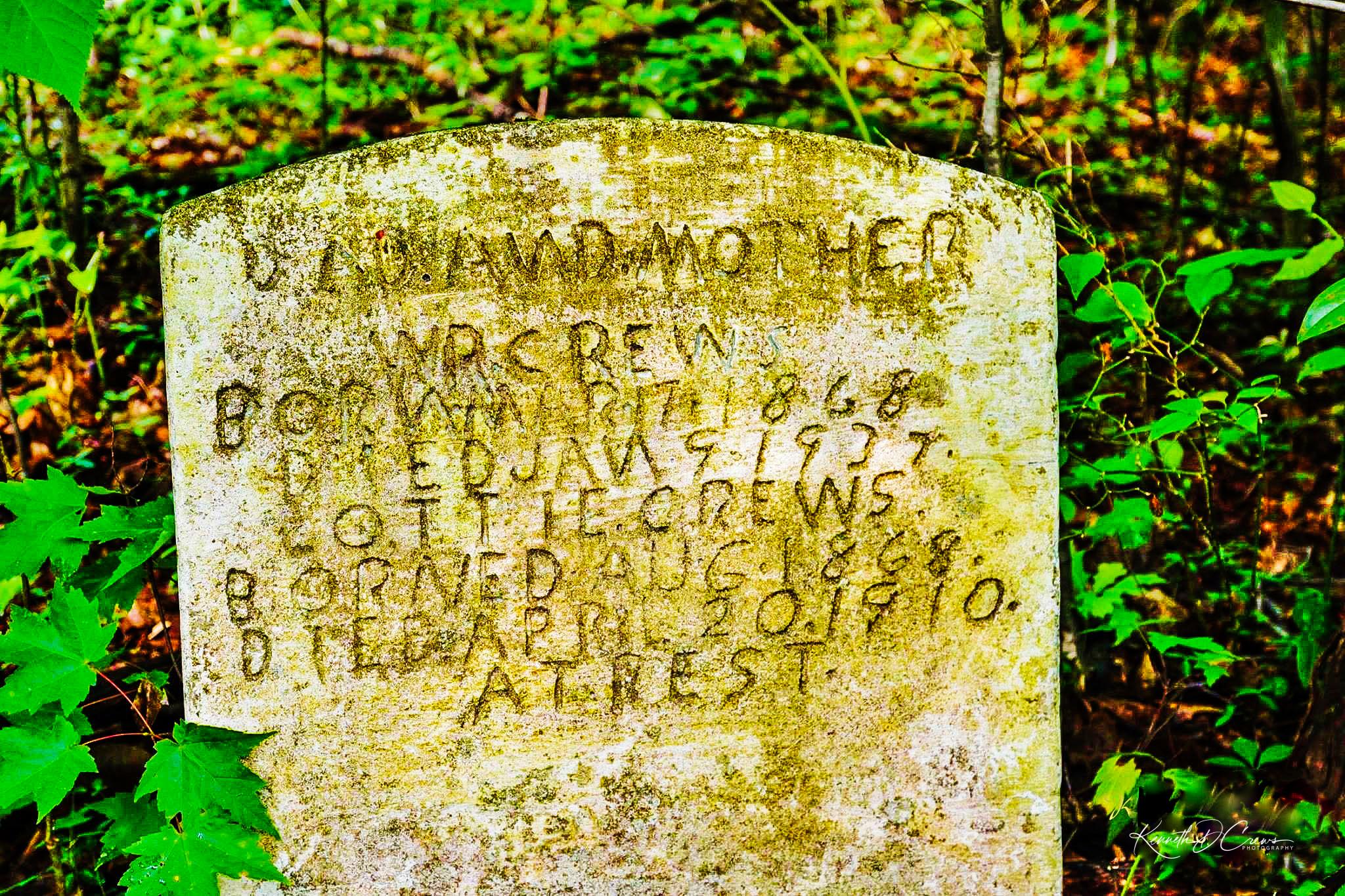 Crews grave stone