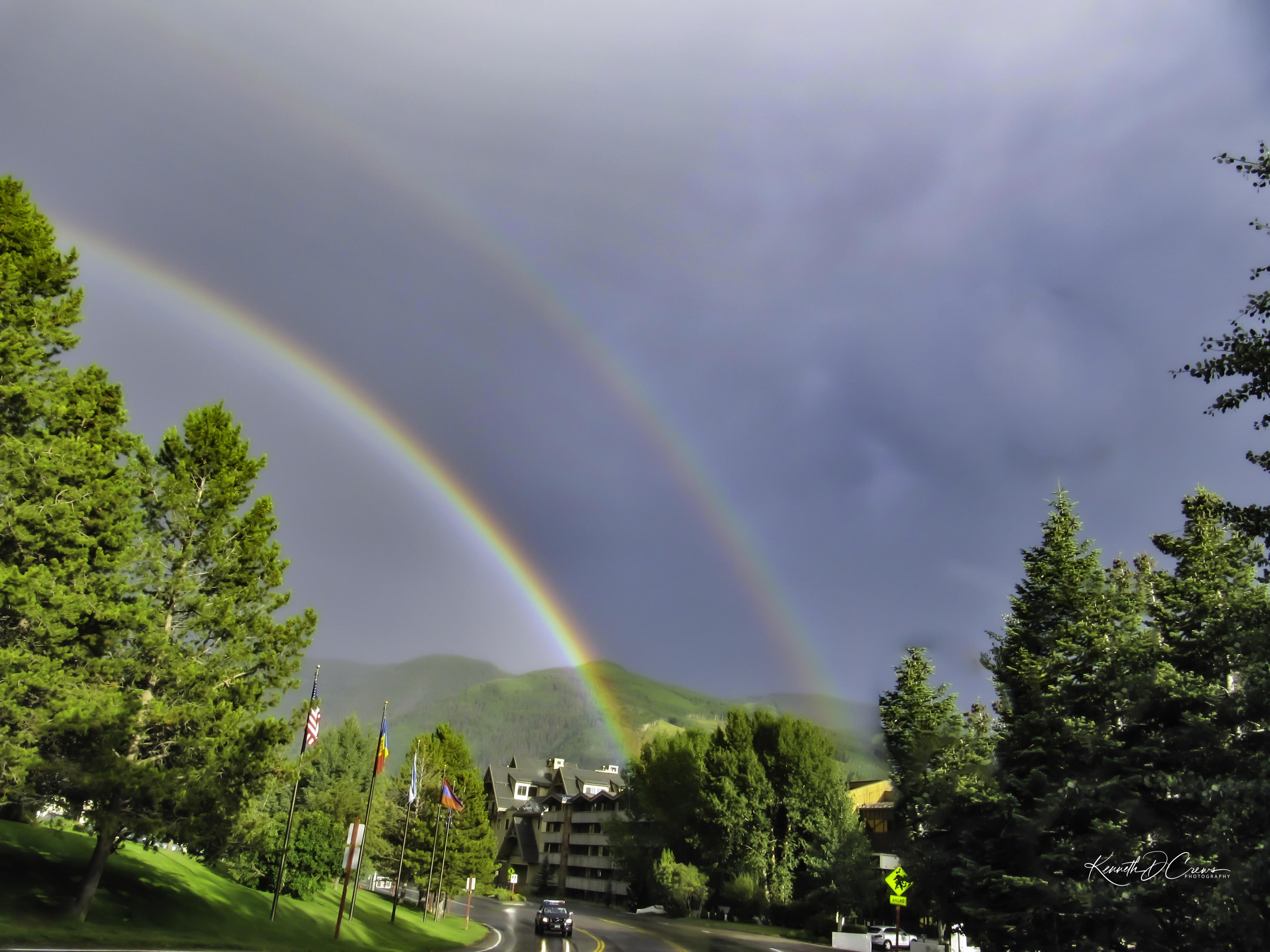 Double rainbow over Aspen CO-1-1-1
