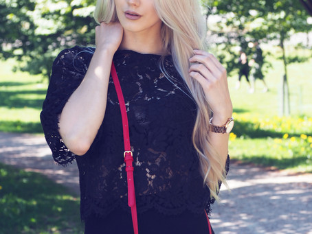 SKIRT & LACE TOP