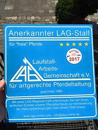 Anerkannter LAG-Stall