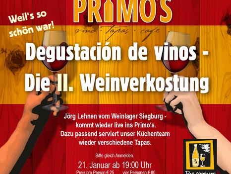 Weinverkostung die II.