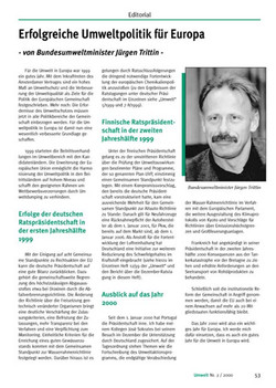 Die Zeitschrift: Umwelt