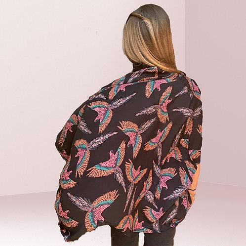 Handmade to order Kimono in Corella viscose print