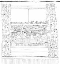 Rear Window lithogrpahic print by Rachel Eardley